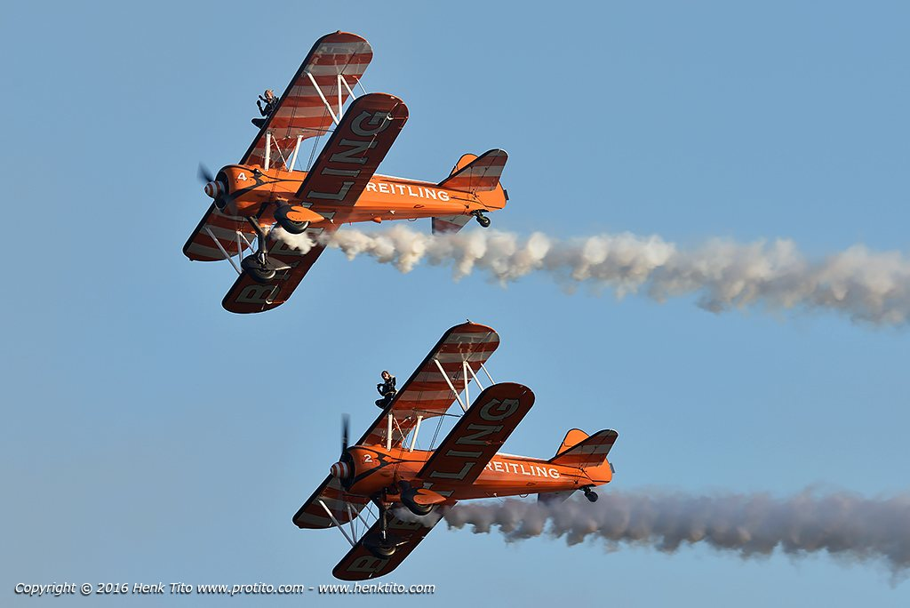Boeing 'Stearman' Breitling wingwalking display team