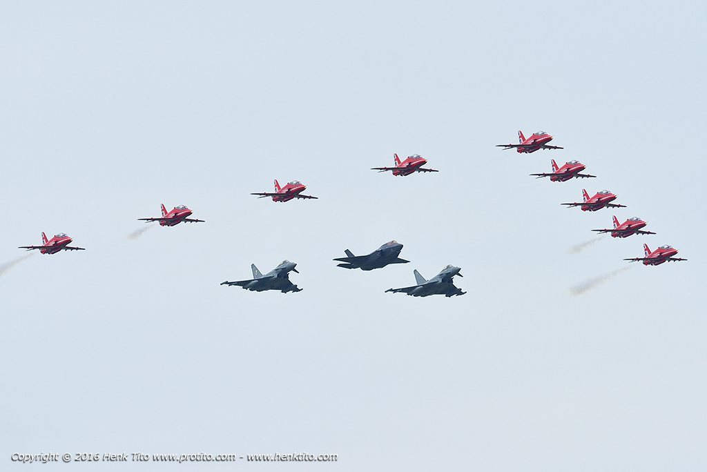 F-35B & Typhoon & Red Arrows Royal Air Force